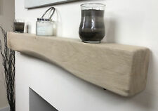 Solid Oak Floating Mantel Shelf 122cm Long 140mmx140mm Arched Beam-easy Fixing