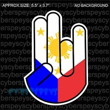 Philippine Flag Shocker Drift Racing JDM Design Car Vinyl Sticker Decals