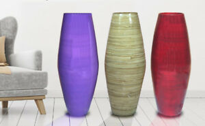 "Uniquewise 27.5"" Tall Bamboo Floor Vase,available in Red, Purple, and Natural"