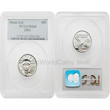 USA 2003 Eagle $25 1/4 oz Platinum PCGS MS69