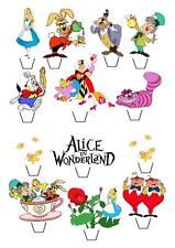 13 Alice In Wonderland STAND UP Cupcake Fairy Cake Toppers Edible  Decorations