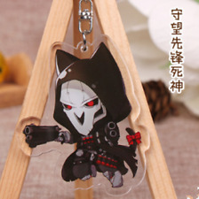 Hot game Overwatch hero Reaper Acrylic Key Ring Pendant Keychain Action Gift