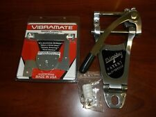 """NEW Bigsby B7 & Vibramate V7-335 G Kit For Archtop, 8.5"""" Long, POLISHED ALUMINUM"""