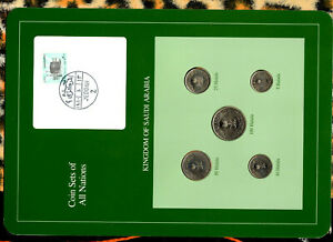 Coin Sets of All Nations Saudi Arabia w/card 1400-1408 (1980-1988) UNC