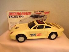 Battery Operated Police Car Macho-Mach Twin Turbo 959
