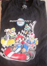 Nintendo  Mario WII KART MarioKArt Cars Luigi Wario T SHIRT Official  BOYS LARGE