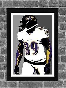 Baltimore Ravens Steve Smith Portrait Sports Print Art 11x17