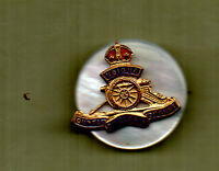 WW2 Royal Artillery  sweetheart Brooch Bronze /enamel