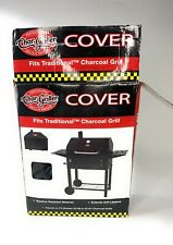 Char-Griller Grill Cover Adjustable Shields Water-Resistant Black #2187