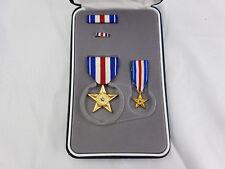 US Orden Silver Star Medal im Euti Set Sonderset Miniatur Ribbon Pin