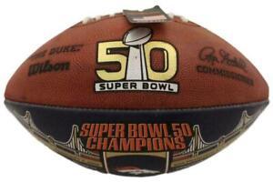 Denver Broncos Unsigned Official Super Bowl 50 Commemorative Football 17486
