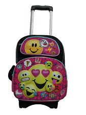 "B17EM34803 3-D EMOJI Emojination Large Custom Rolling Backpack 17"" x 12"" x 7"""