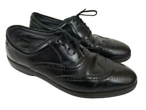 Red Wing Dress Shoes 11.5 Black Leather Men's Wingtips Size USA Made 8630