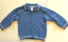 BNWT Baby Ka-Boosh Blue Zip Jumper Cardigan Size 0 100% Cotton