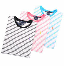 Ralph Lauren Sport Women Crew-Neck Stripe Tee T-Shirt Top Pony - Free