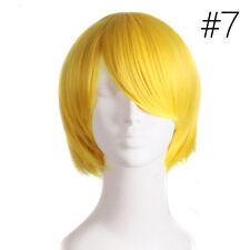 Unisex Women Men Straight Short Hair Wig Cosplay Party Anime Full Wigs Stylist.'