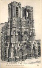 CPA 17 cathédrale de Reims joyau d'architecture détruit par les Allemands en 14