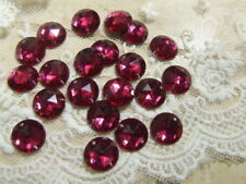 BNA99 Pink 15 x 16mm Acrylic Faceted Round Beads