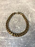 Goldenes Armband, Panzerarmband mit Verschluss Breit - Vintage
