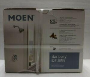 Moen Banbury 1.75 GPM Shower Faucet w/Valve-Brushed Nickel 82912SRN BRAND NEW