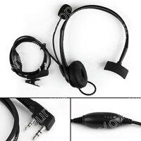 1x Overhead Headphone Headset For Kenwood Puxing Wouxun Baofeng 2-Way Radio