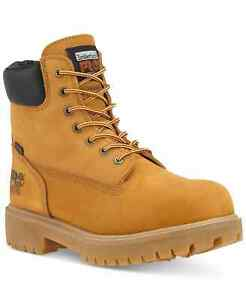 """Timberland PRO Men 6"""" Direct Attach Safety Toe Waterproof Work Boot Yellow 9.5M"""
