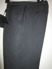 BURBERRY PRORSUM Dress Pants Pleat Front Dark Charcoal Wool & Mohair Italy $1095