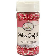 Heart Mini Edible Confetti sprinkles for Cupcakes, Cookies & Candy