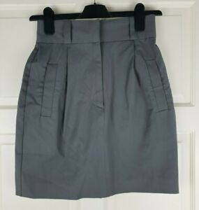 French Connection Ladies Grey Pleated Stretch Short Skirt Size 6 / W32