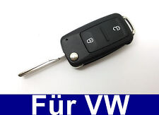 2tasten Spare FLIP KEY REMOTE CONTROL FOR VW BORA CADDY III Golf IV Jetta