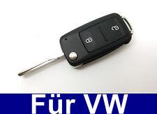 2Tasten Ersatz Klappschlüssel Fernbedienung für VW Bora Caddy III Golf IV Jetta