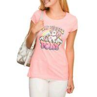 New My Little Pony Pink Graphic Retro Fitted Tee Shirt Juniors Medium