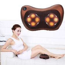 Shiatsu Heat Massage Pillow Deep Kneading Massager Neck Shoulder Back Pain Relax