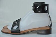 Freelance Paris Womens Sz 39 / 8.5 Black Leather Ankle Strap Sandals NICE!!
