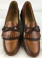 Allen Edmonds Woodstock Brown Leather Loafer Shoes Men's Size 10 A Made in USA