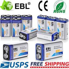 Lot 9 Volt 9V 600mAh 280mAh Rechargeable Li-ion 6F22 Battery High Volume USA