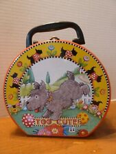 "Mary Engelbreit ""Too Cute"" Scottie Dog Sewing or Lunchbox Tin! 1999 Vintage"