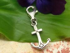 breloques pendentif en argent sterling 925 Ancre Bracelet à charms