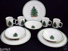 BADCOCK CHRISTMAS TREE  DINNER SET PLATES,COFFEE CUPS, SOUP BOWLS 10 Pc