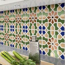 Mamounio Green Moroccan Polished Porcelain Geometric Wall Tiles