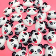 10 x Kawaii Panda Head Resin Cabochon Flatbacks Cute Japan Decoden Craft Charms