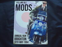 Mods Scooter Brighton 1964 Run  Metal Picture Sign -Tin Steel retro Motor Bike