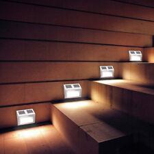 Edelstahl  Wandleuchte Solarleuchte Solarlampe LED Lampe Leuchte Wandstrahler