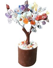 HAND MADE GEM GEMSTONE TREE OF LIFE AMETHYST QUARTZ NEW AGE HEALING REIKI CHAKRA