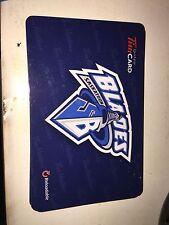 2013 Saskatoon Blades WHL Tim Hortons Gift Card Saskatchewan