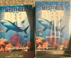 MYSTERIES OF THE DEEP Brand New 5 DVD Set in Tin Box /44 PAGE BOOKLET DVD
