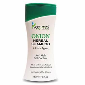 KAZIMA ONION HERBAL Shampoo 200ML Hair Growth, Anti hair Falls Control F.S