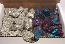 Iron Pyrite & Chalcopyrite Collection 10 Oz Natural Fools Gold & Peacock Ore