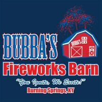 BUBBA'S FIREWORKS BARN - BURNING SPRINGS, KY FUNNY  MLS Funny T-shirts