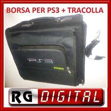 BORSA CON TRACOLLA PLAYSTATION 3 PS3 VALIGIA PORTA CONSOLE GIOCHI CD COMPATIBILE